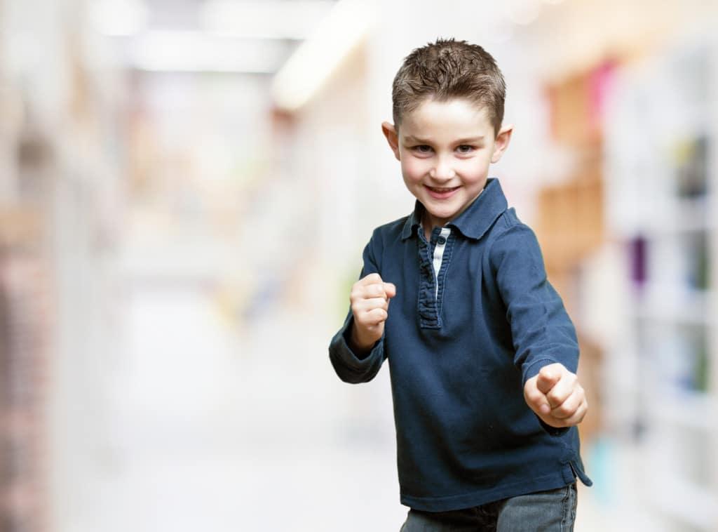 little kid fighting